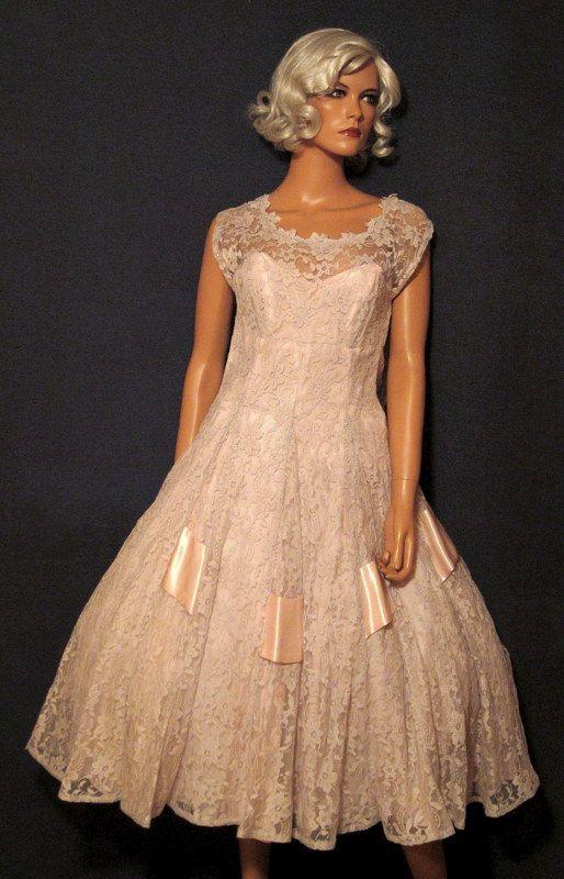 Vintage Emma Domb 1950's Party Dress Small by DecojumeauAntiques, $452.00