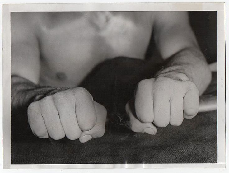 VINTAGE 1935 ICONIC Boxer Max Baer's Fists Close-Up Incredible Press Photo