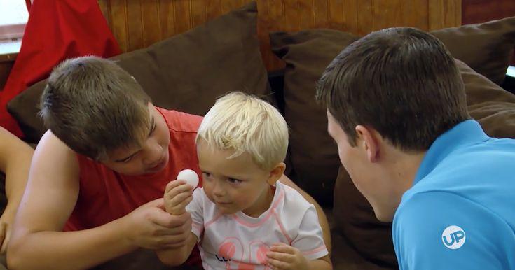 Brandon Keilen loves science, and he enjoys explaining the phenomenon of the solar eclipse to the little Bates kids.