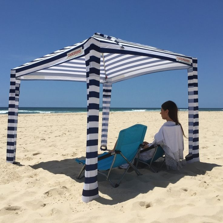 Navy Stripes is our most popular and an all-time classic which will never go out of fashion. Enjoy the beach under this timeless classic! & Best 25+ Beach canopy ideas on Pinterest | Beach shade canopy ...
