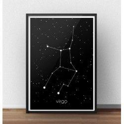 Plakat z gwiazdozbiorem Panny (Virgo)  http://scandiposter.pl/plakaty/149-plakat-ze-znakiem-zodiaku-panna.html