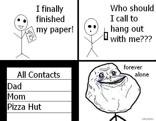 finished paper forever alone
