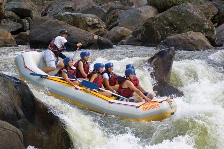 Raging Thunder - Afternoon Barron River Rafting from $129 Call Us 1300 731 620 or visit http://www.fnqapartments.com/tour-raging-thunder-afternoon-barron-river-rafting/area-cairns/ #cairnstour