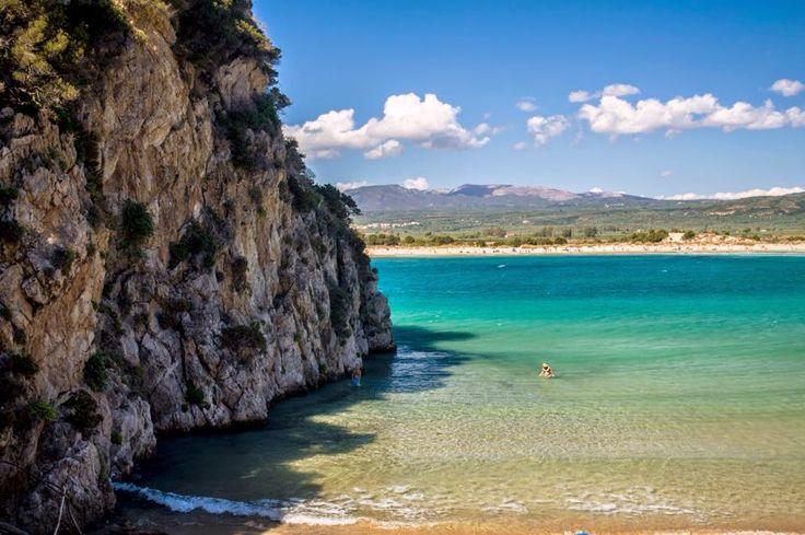 the most beautiful beach...  Photo: https://www.facebook.com/korifasioblogspot  #messinia #voidokoilia #peloponnese #visitgreece #travel