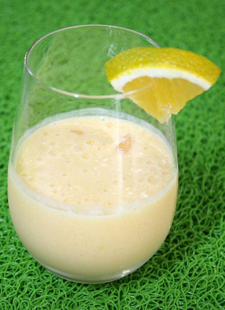 #Smoothie de #mango con yogur de durazno