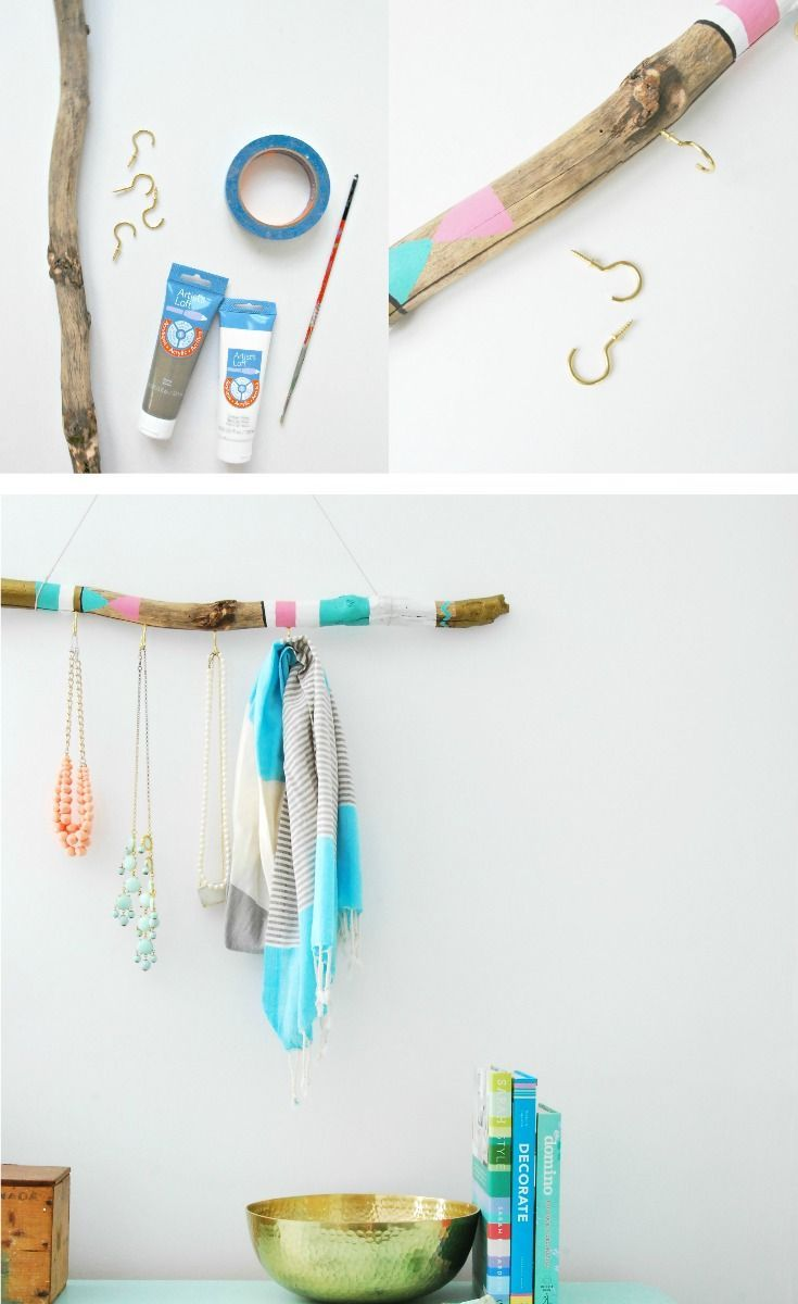 Make this gorgeous DIY jewelry hanger out of driftwood and paint! It has a boho look that turns your accessories into a piece of art. Click…