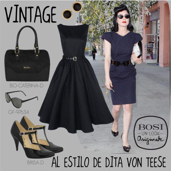 """""""Vintage al estilo de Dita Von Teese"""" by bosi-accesorios on Polyvore"""