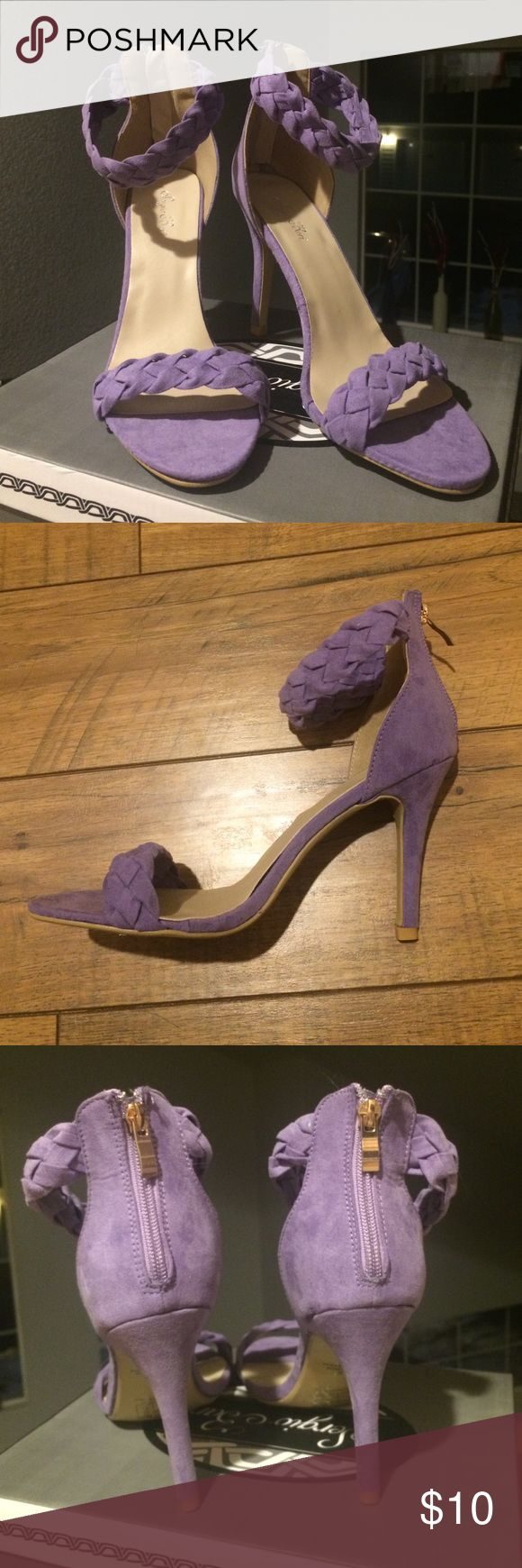 """Purple Heeled Sandal Never worn! New in box. Size 8.5 and true to size. 3 3/4"""" heel. Sergio Bari Shoes Heels"""