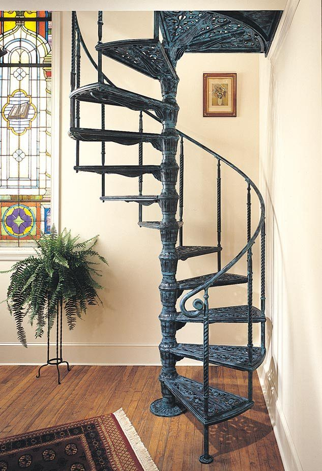 Custom Spiral Staircase In Victorian Style