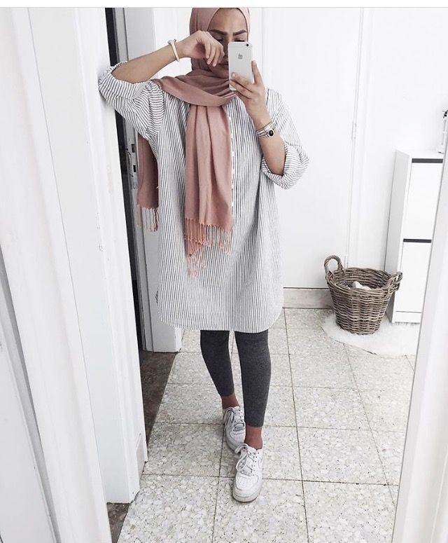 Sporty casual hijab with sneakers