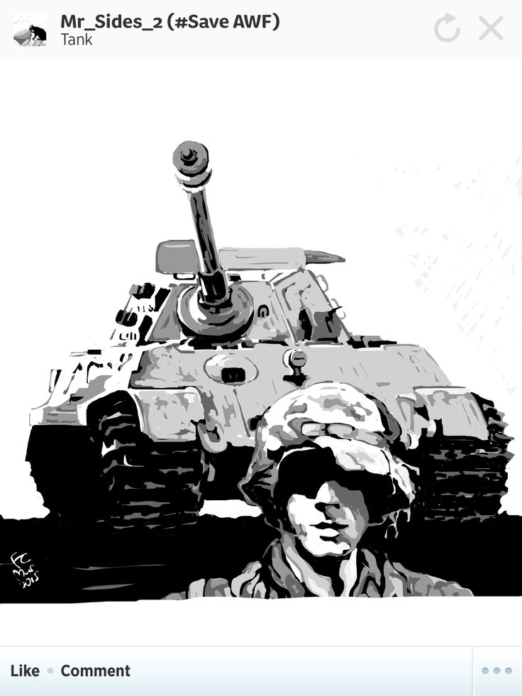 A King Tiger and a panzer grenadier.