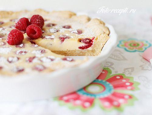 Малиновый пирог с заливкой из белого шоколада - Рецепты с фото пошагового приготовления на Фото-Рецепты. ру