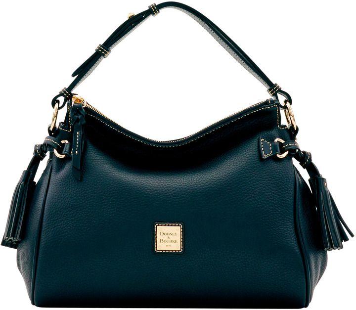Dooney & Bourke Pebble Grain Medium Zip Hobo Shoulder Bag