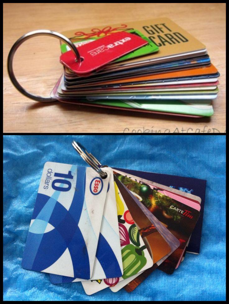 """Cartes cadeaux faciles a trouver pour sac à main - Tableau """"Rangement"""""""