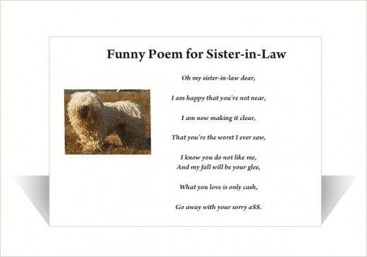 Funny sister-in-law poem | Birthday | Pinterest | Funny ...