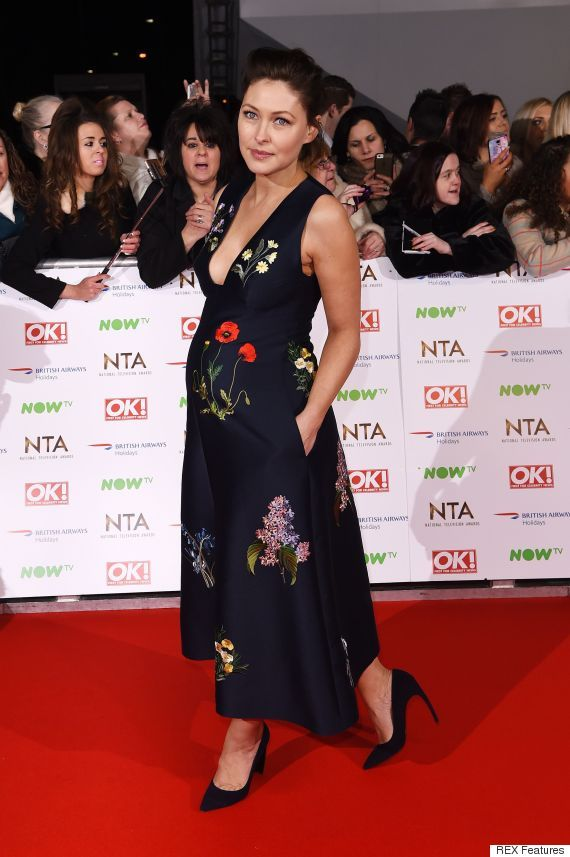 NTAs 2016: Emma Willis Floral Gown by Stella mcCartney Brings A Touch Of Spring To The Red Carpet
