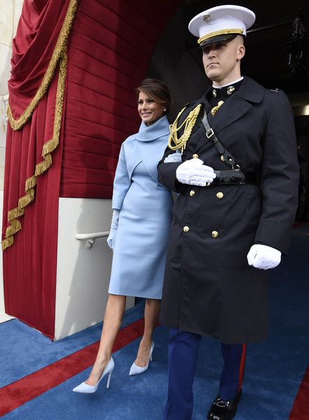 Melania Trump Photos Photos - Melania Trump arrives for the Presidential Inauguration of Donald Trump at the US Capitol on January 20, 2017 in Washington, DC. Donald J. Trump will become the 45th president of the United States today. - Donald Trump Is Sworn In As 45th President Of The United States