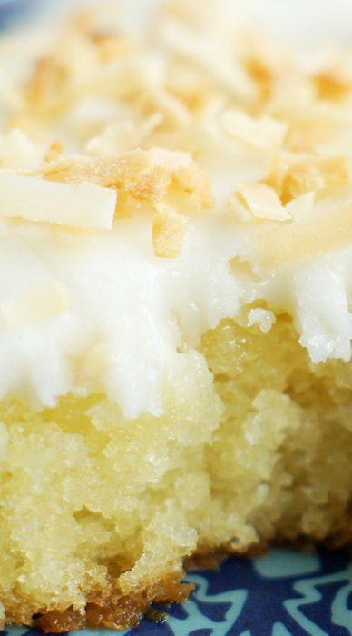 White Texas Coconut Sheet Cake