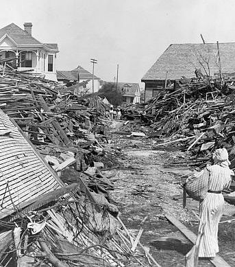 The devastating destruction of the Galveston hurricane brought a new focus on the study of hurricane prediction. Description from fox41blogs.typepad.com. I searched for this on bing.com/images