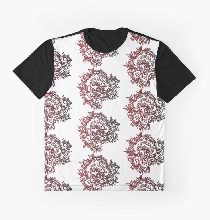 Paeonia Men's graphic T-shirt  #redbubble #patterndesign #folkstyle #floral #flourish