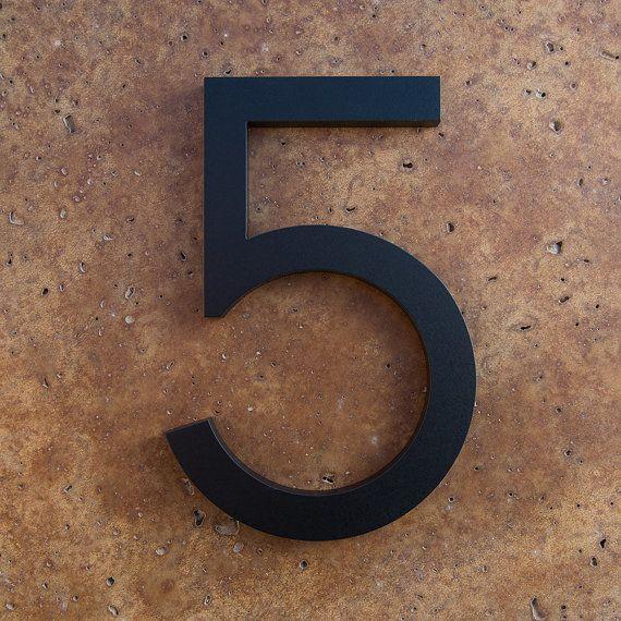 Modern House Number Aluminum Modern Font Number by moderndwell