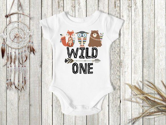 This trendy tribal Wild One birthday shirt is perfect for any little Woodland's theme boy's birthday party! Let us help you make this hue 1st birthday milestone extra memorable with this perfect birth