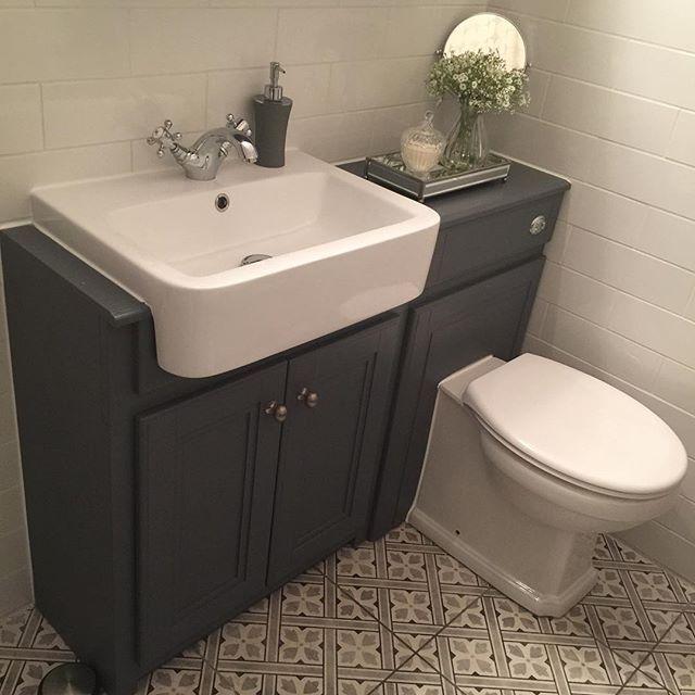 Laura Ashley Mr Jones Charcoal Wall Floor Tiles 33x33cm Bathroom Floor Plans Bathroom Design Bathroom Vanity Units