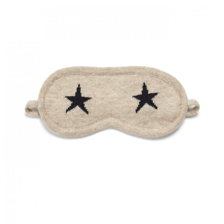 Oatmeal Star Cashmere Eye Mask | Chinti and Parker