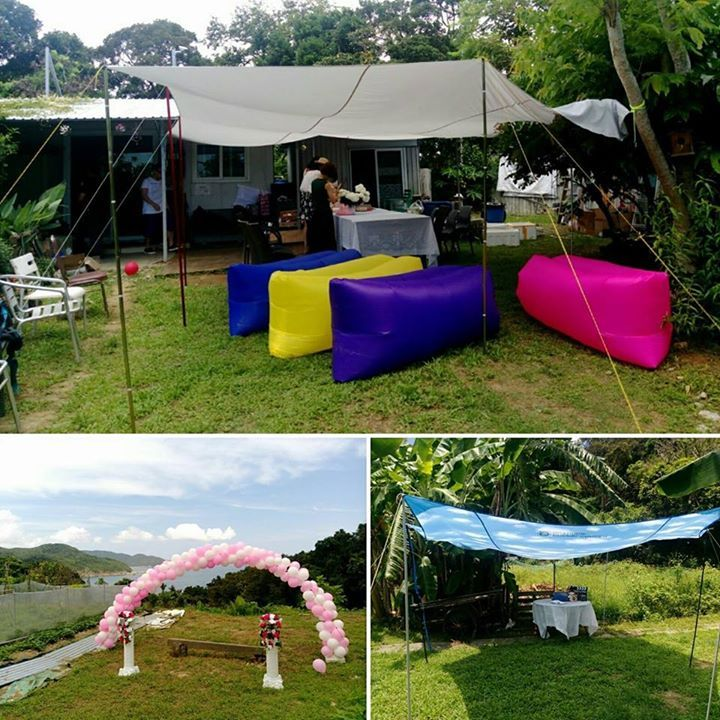 【Outdoor Wedding Party】  So happy to join the wedding party held in the farm last weekend. View is so nice!! The couple knew each other in the farm and now they came back to have party here. What a meaningful place for them!   剛過去的星期六,除了去JCCAC市集擺檔外,還影分身參加了朋友的農場婚禮!因為此農場而相識,然後再於此辦Party, 別具意義。  #urbancamperhk #happywedding #ourdoors #新婚快樂 #outdoors, #campinggear, #fishinggear, #ClimbingGear