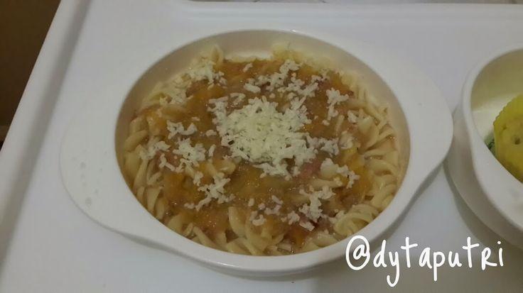 THE DYTAPUTRI: Resep MPASI : Pasta Ayam Keju (8m)