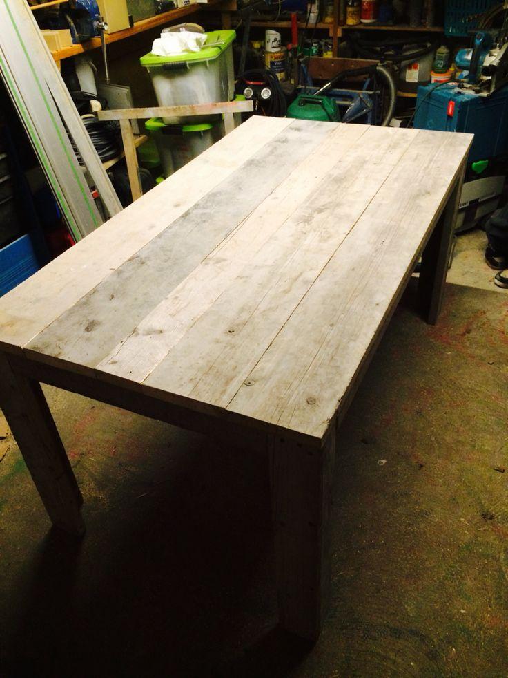 Steigerhout tafel 1.60x90 op bestelling!