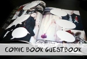 DIY Comic Book Guestbook - When Geeks Wed