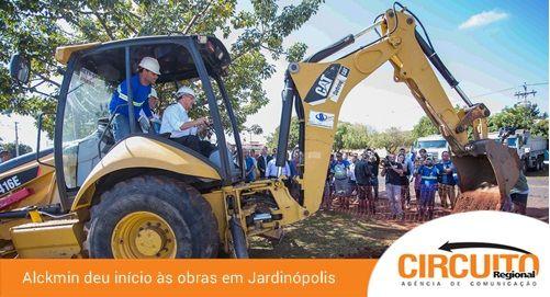 ALCKMIN DÁ A LARGADA PARA OBRAS DE ACESSO A JARDINÓPOLIS