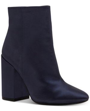 Jessica Simpson Windee Block-Heel Booties - Blue 8.5M