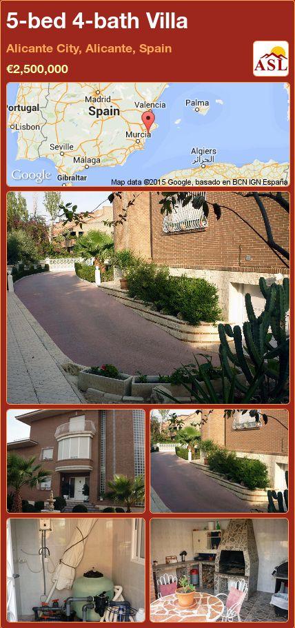 5-bed 4-bath Villa in Alicante   City, Alicante, Spain ►€2,500,000 #PropertyForSaleInSpain