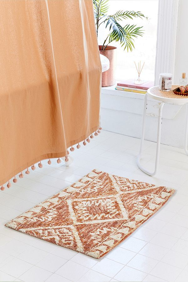 Kilim Space Dye Bath Mat Washable Bath Mat Bath Rugs Bath Mat