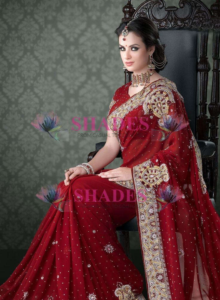 Buy from wide range of Wedding & Bridal saree collection, Lehengas@ http://www.shadesandyou.com/product-category/regular-sarees/  #WeddingSarees #BridalSarees #BuySareesOnline #IndianDesignerSarees #WeddingSaree #IndianEthnicWear