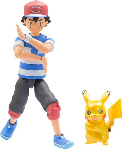 AmiAmi [Character & Hobby Shop] | Pokemon MonColle EX - Ash Ketchum & Pikachu (Metallic Ver.) Z-Move Pose(Released)