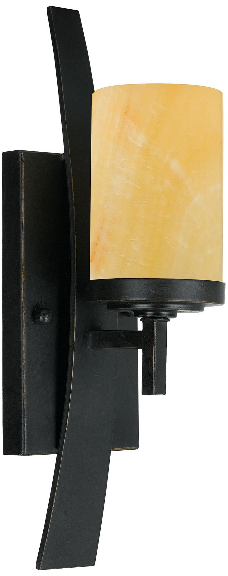 """Kyle Collection Marble Shade 16"""" High Wall Sconce - (might be OK with a white glass shade)"""