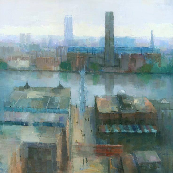 "Saatchi Online Artist: Stephen Mitchell; Acrylic, 2012, Painting ""London Cityscape"""