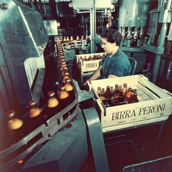 Bottling Peroni. Delicious.