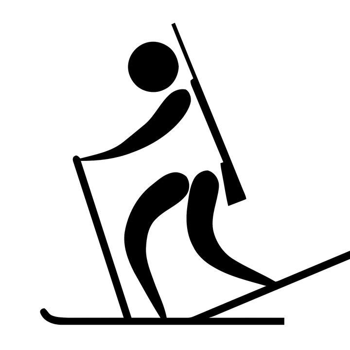 Biatlon, Sportovní, Logo, Piktogram, Olympijské Hry