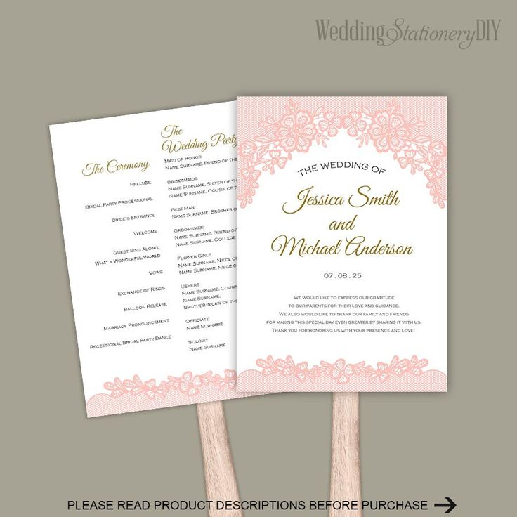 531 program template - 19 best diy wedding programs images on pinterest wedding