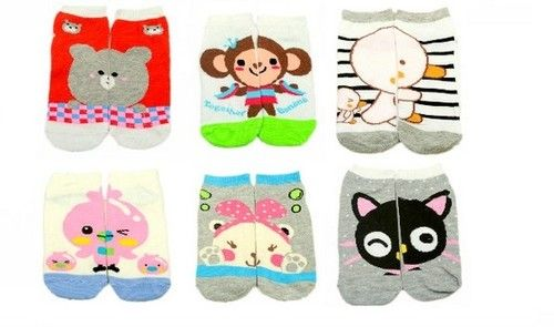 Cute Character Adult Korean Partner AB Socks