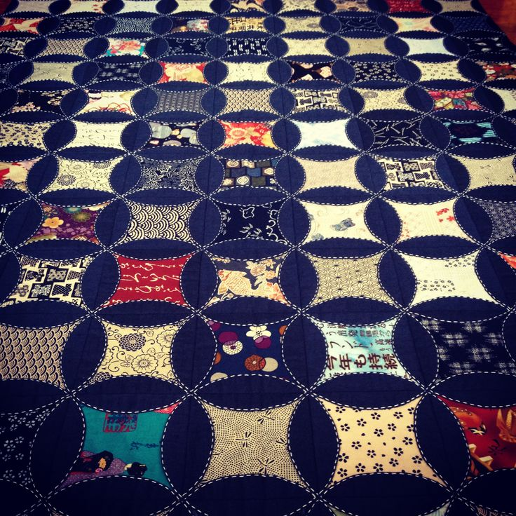 Kaleidoscope Japanese quilt. I love the colours and the contrast between them, absolutely stunning