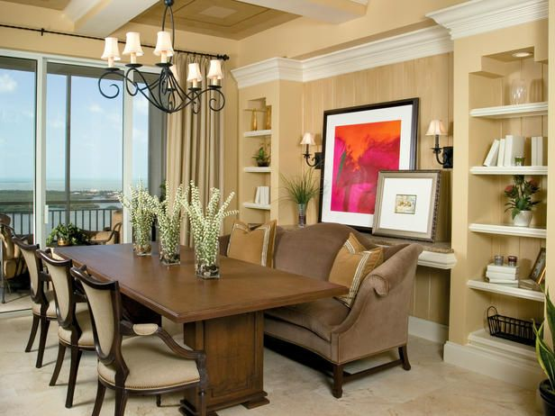 COFFERED CEILING CONTEMPORARY DINING ROOM