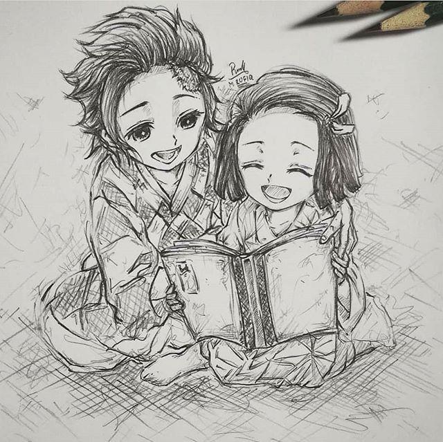 Anime Manga Feature 67k En Instagram Kawai Rate From 1 10 Siblings Love Follow J V Art For A Anime Drawing Styles Drawings Anime Drawings