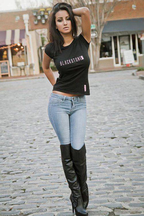 hot women in jeans and boots -#main