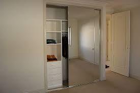 built-in wardrobe mirror sliding door double - Google Search