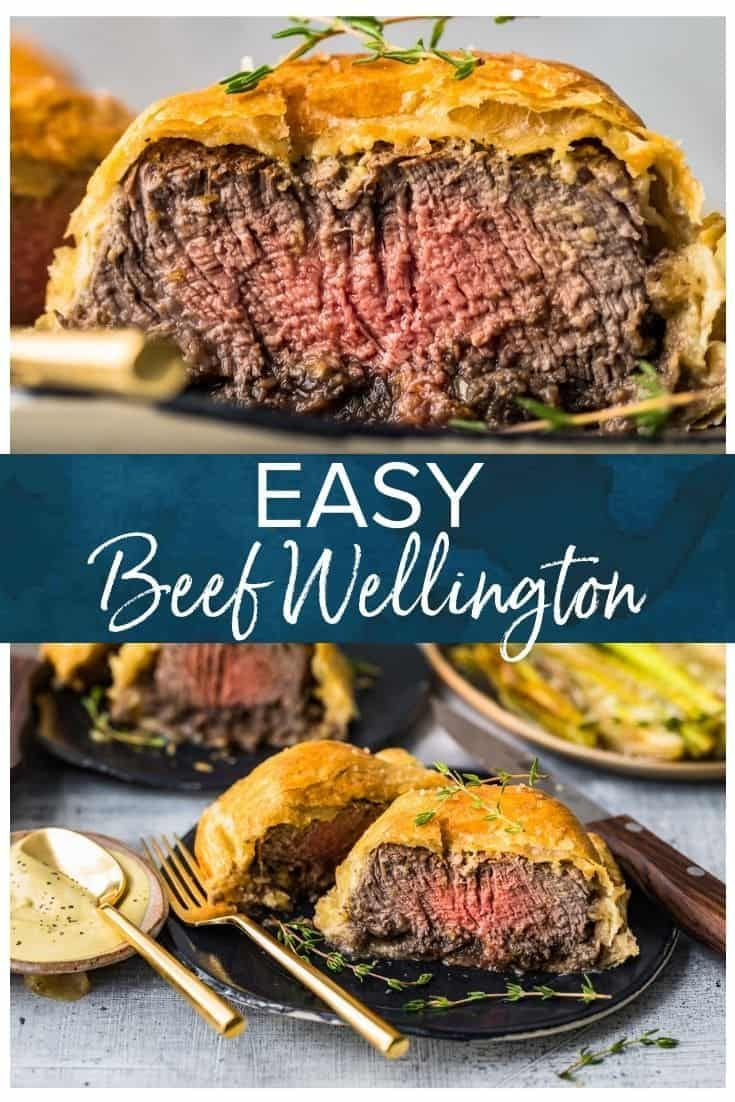 This Easy Beef Wellington Recipe For Two Is Perfect For A Date Night Or Dinner Party Individual Be Beef Wellington Recipe Beef Wellington Easy Beef Wellington
